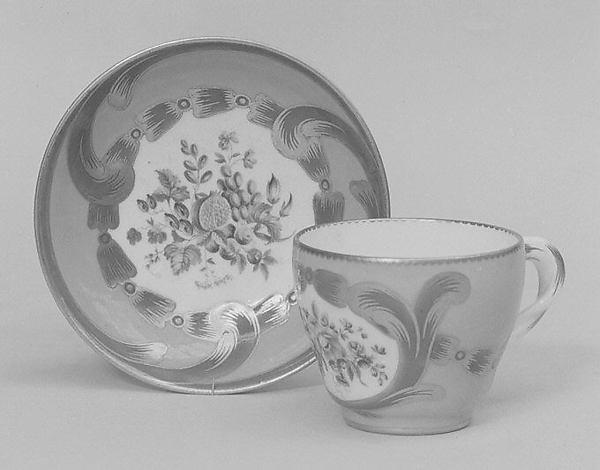 Cup (part of a service), Sèvres Manufactory (French, 1740–present), Soft-paste porcelain, French, Sèvres