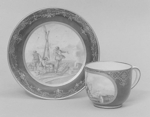 Cup (gobelet Bouillard) (part of a service), Sèvres Manufactory (French, 1740–present), Soft-paste porcelain, French, Sèvres