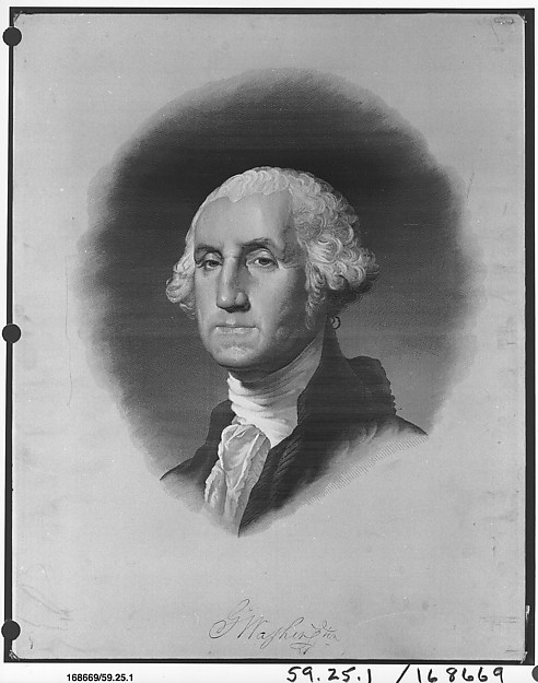 President George Washington, Mathevon et Bouvard, Silk, French, Lyons