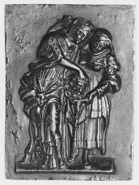 Judith with the Head of Holofernes, Medalist: Andrea Briosco, called Riccio (Italian, Trent 1470–1532 Padua), Bronze, Italian, Padua