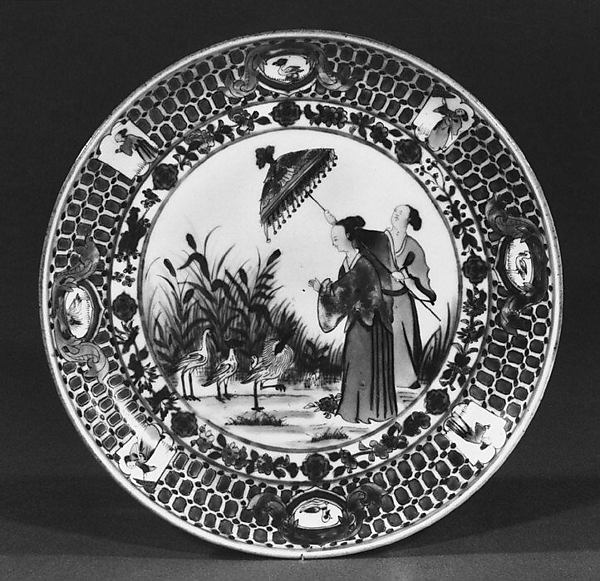 Dish, After a design by Cornelis Pronk (Dutch, Amsterdam 1691–1759 Amsterdam), Hard-paste porcelain, Chinese, for Dutch market