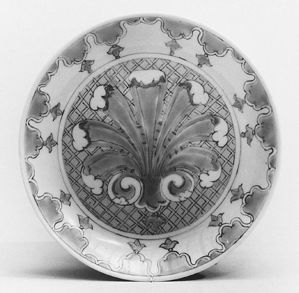 Saucer (part of a service), After a design by Cornelis Pronk (Dutch, Amsterdam 1691–1759 Amsterdam), Hard-paste porcelain, Chinese, possibly for Dutch market