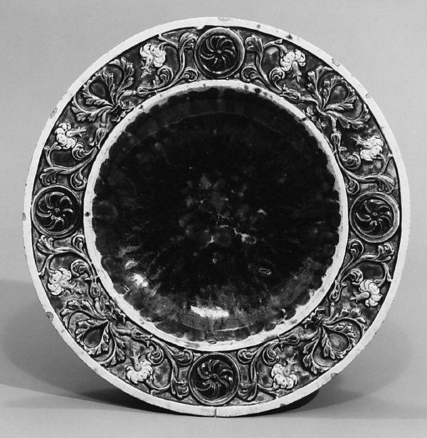 Plate, Manner of Bernard Palissy (French, Agen, Lot-et-Garonne 1510–1590 Paris), Lead-glazed earthenware, French