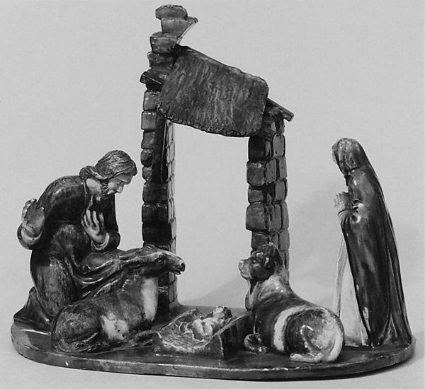 The Nativity, Lead-glazed earthenware, French, Avon