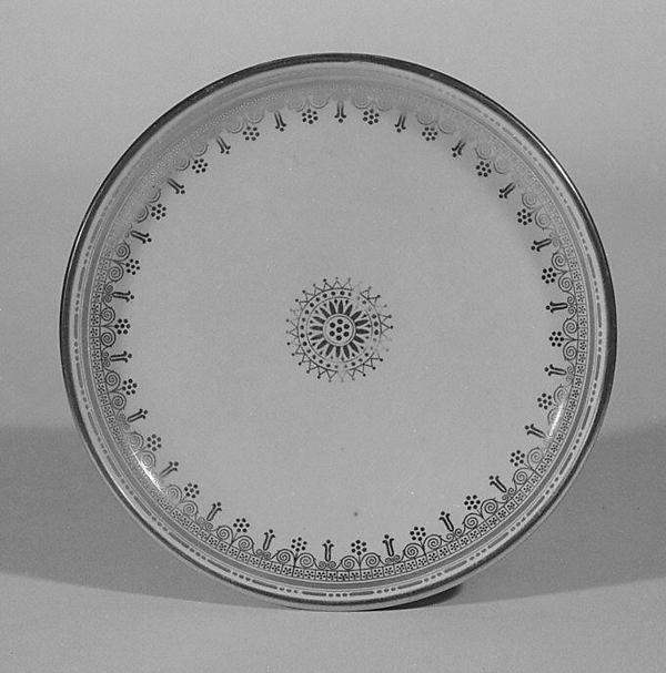 Saucer, Sèvres Manufactory (French, 1740–present), Hard-paste porcelain, French, Sèvres