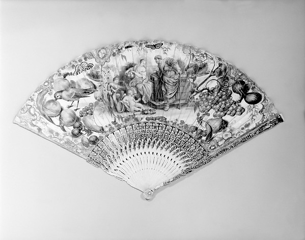 Fan, Paper and ivory, Dutch