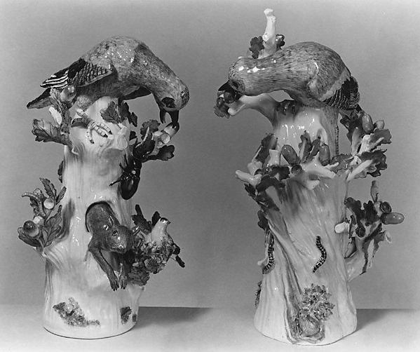 Jay (one of a pair), Meissen Manufactory (German, 1710–present), Hard-paste porcelain, German, Meissen