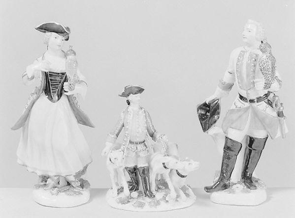 Falconer (one of a pair), Meissen Manufactory (German, 1710–present), Hard-paste porcelain, German, Meissen