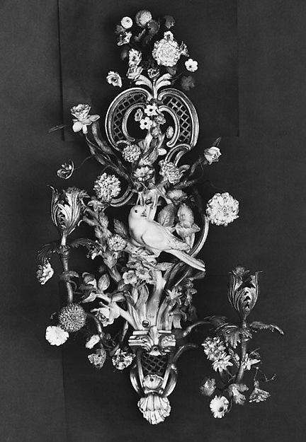 Wall bracket (one of a pair), Meissen Manufactory (German, 1710–present), Hard-paste porcelain, German, Meissen