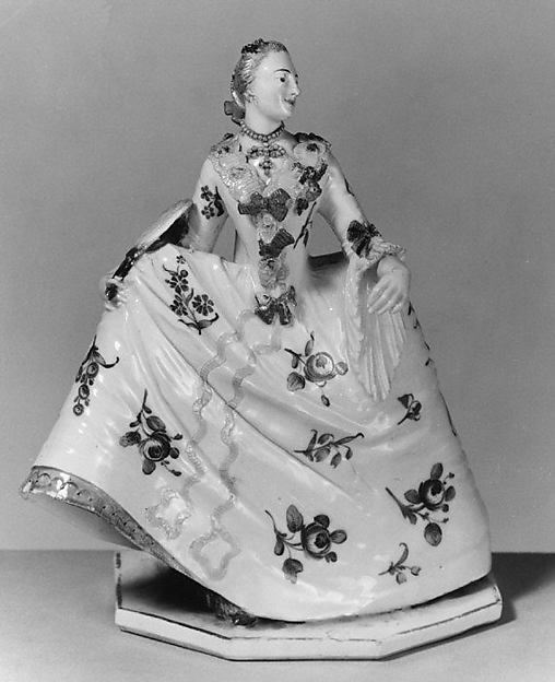 Crinoline lady, Nymphenburg Porcelain Manufactory (German, 1747–present), Hard-paste porcelain, German, Nymphenburg