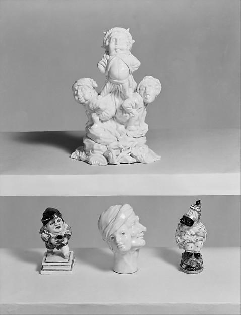 Acrobats, Cozzi manufactory (Italian, 1764–1812), Hard-paste porcelain, Italian, Venice