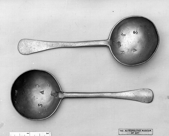 Spoon, Pewter, possibly Flemish