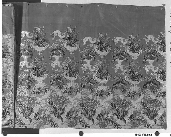 Panel from a skirt, Silk , French