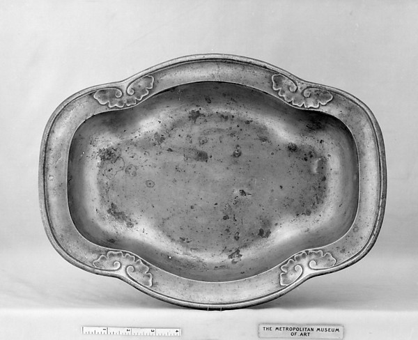 Basin (part of a set), Pewter, Flemish