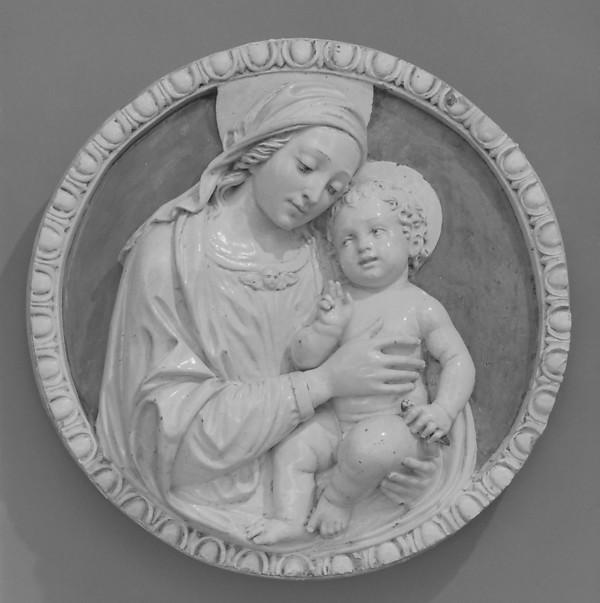 Madonna and Child, Benedetto Buglioni (Italian, Florence 1459/60–1521 Florence), Glazed terracotta, Italian, Florence
