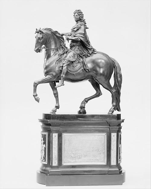 Louis XIV, after a model by Martin van den Bogaert called Desjardins (1640–1694), Bronze, gilt bronze, French
