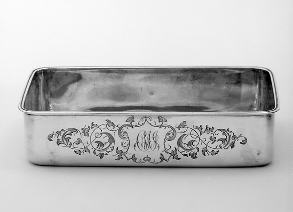 Basin (part of a set), Anders Lång (master 1843–51), Silver, Russian, St. Petersburg