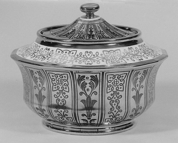 Sugar bowl (part of a coffee and tea service), Imperial Porcelain Manufactory, St. Petersburg (Russian, 1744–present), Hard-paste porcelain, Russian, St. Petersburg