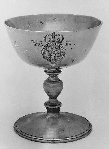 Communion cup (one of a pair), W. H., London, Silver gilt, British, London
