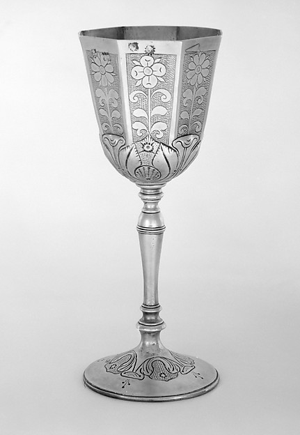 Wine cup, Jeffery Prescott, Silver gilt, British, London