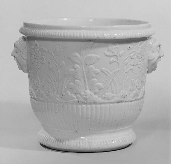 Bottle cooler (seau à bouteille), Saint-Cloud factory (French, before 1698–1766), Soft-paste porcelain, French, Saint-Cloud