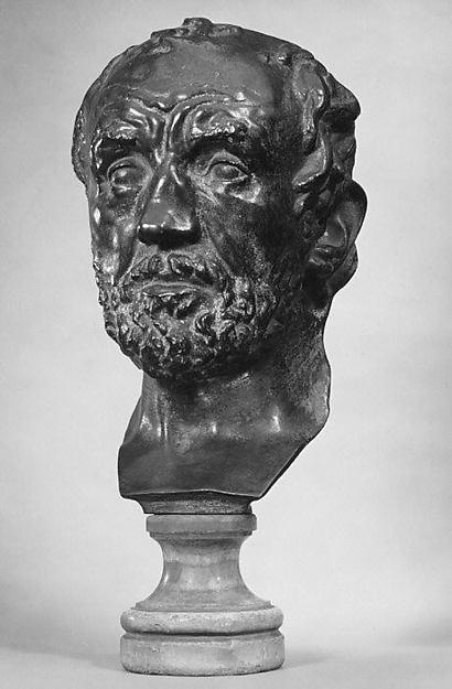 Mask of the Man with the Broken Nose (Masque de l'homme au nez cassé), Auguste Rodin (French, Paris 1840–1917 Meudon), Bronze, French