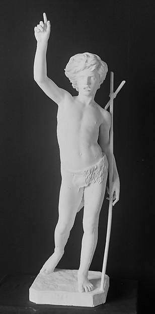 Saint John the Baptist as a child, Paul Dubois (French, Nogent-sur-Seine 1829–1905 Paris), Plaster, French