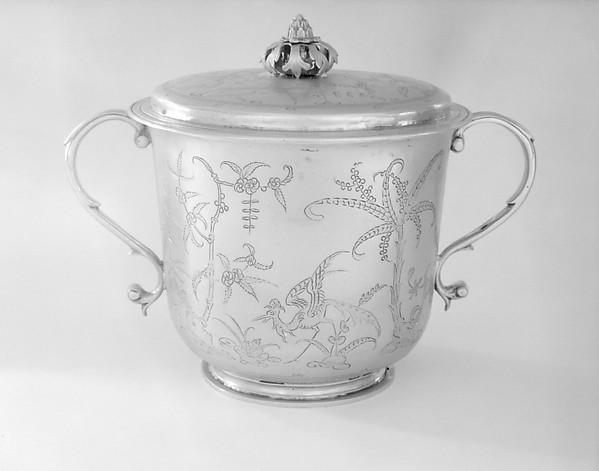 Cup with cover, Thomas Jenkins (active 1668–1708), Silver gilt, British, London