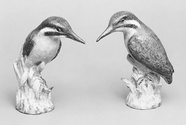 Pair of icebirds, Royal Porcelain Manufactory, Berlin (German, founded 1763), Hard-paste porcelain, German, Berlin