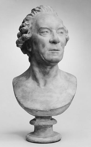 Georges-Louis-Leclerc, comte de Buffon (1707–1788), Jean Antoine Houdon (French, Versailles 1741–1828 Paris), Tinted stucco, French