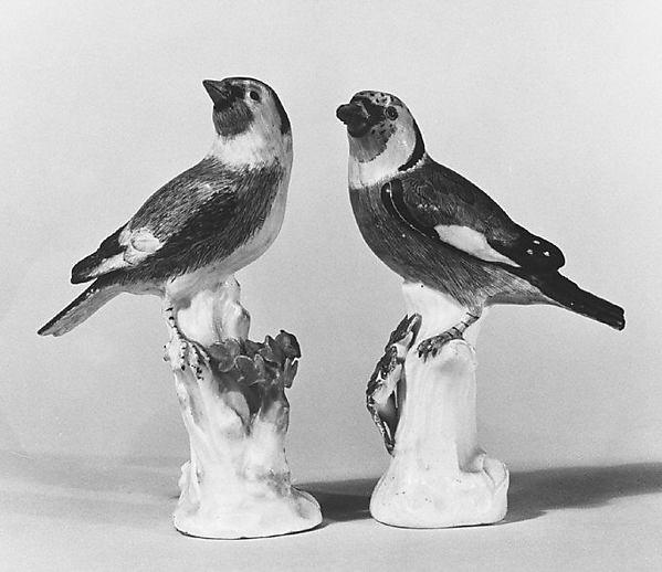 Goldfinch (one of a pair), Meissen Manufactory (German, 1710–present), Hard-paste porcelain, German, Meissen