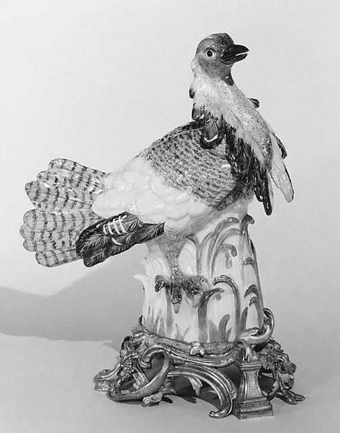 Ruffed bustard (one of a pair), Meissen Manufactory (German, 1710–present), Hard-paste porcelain, German, Meissen