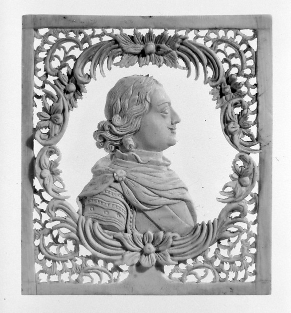Peter the Great, Walrus ivory, Russian, Kholmogory