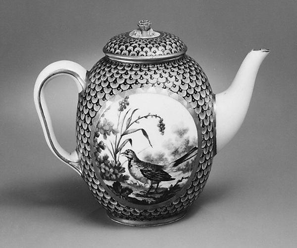 Teapot (part of a service), Sèvres Manufactory (French, 1740–present), Soft-paste porcelain, French, Sèvres