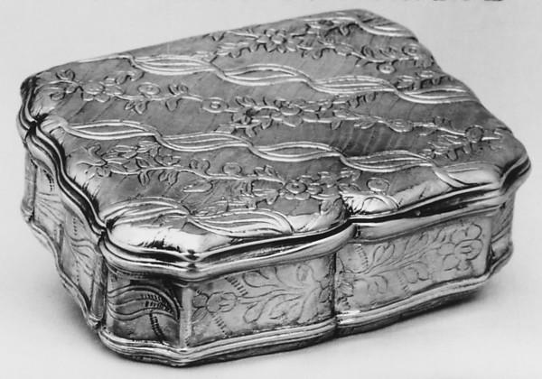 Snuffbox, Antoine Daroux (master 1735, died 1789), Silver, parcel gilt, French, Paris