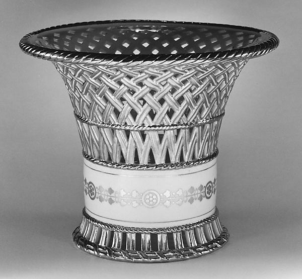 Fruit basket (one of a pair), Sèvres Manufactory (French, 1740–present), Hard-paste porcelain, French, Sèvres
