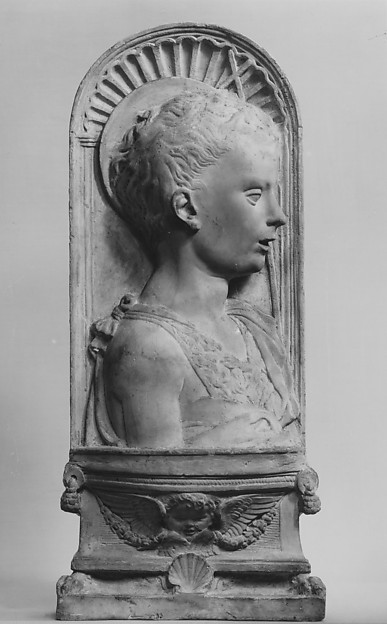 Young Saint John the Baptist, After an imitation of Desiderio da Settignano (Italian, Settignano ca. 1430–1464 Florence), Stucco, Italian, possibly Florence