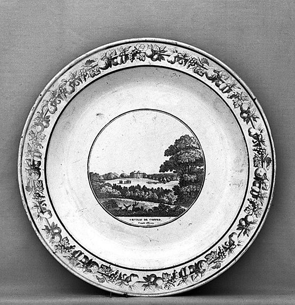 Plate, Stone, Coquerel et LeGros, Faience (tin-glazed earthenware), French, Creil