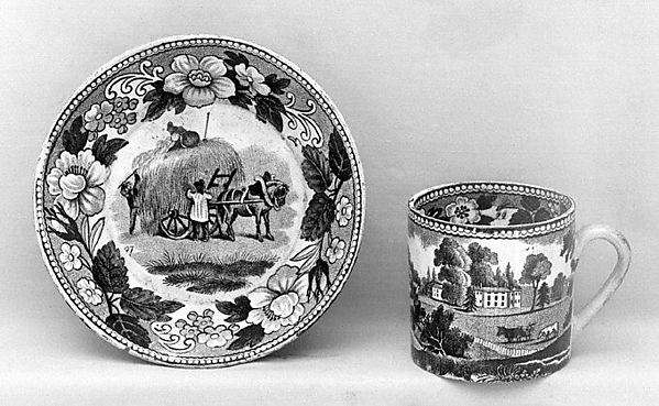 Cup (part of a set), Semi-porcelain, French, Creil