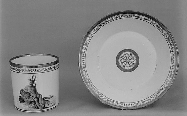 Saucer (part of a coffee service), Nymphenburg Porcelain Manufactory (German, 1747–present), Hard-paste porcelain, German, Nymphenburg