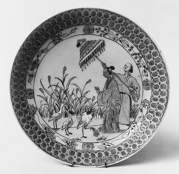 Saucer, After a design by Cornelis Pronk (Dutch, Amsterdam 1691–1759 Amsterdam), Hard-paste porcelain, Chinese, for Dutch market