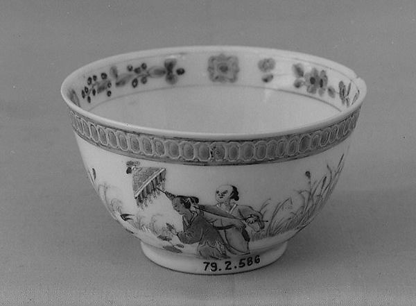 Teabowl, After a design by Cornelis Pronk (Dutch, Amsterdam 1691–1759 Amsterdam), Hard-paste porcelain, Chinese, for Dutch market
