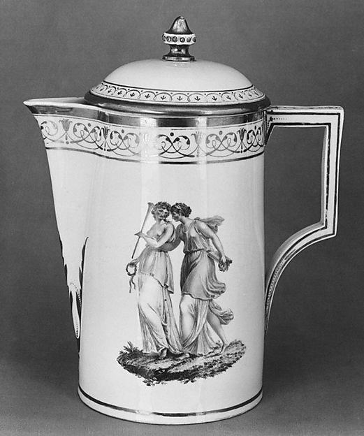 Coffeepot (part of a coffee service), Nymphenburg Porcelain Manufactory (German, 1747–present), Hard-paste porcelain, German, Nymphenburg