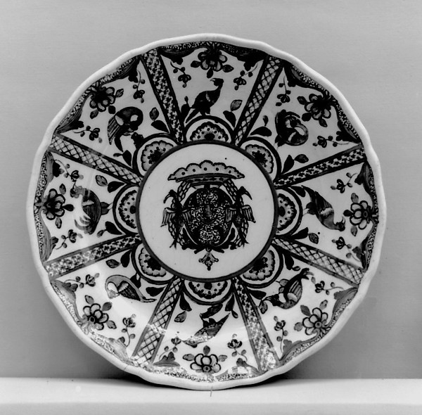 Plate, Faience (tin-glazed earthenware), French, Sinceny
