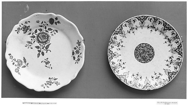 Plate, Faience (tin-glazed earthenware), French, Rouen