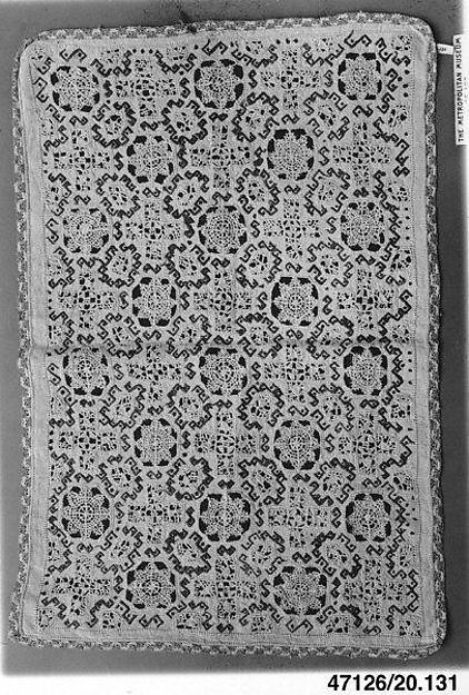 Pillow cover, Cutwork, Italian