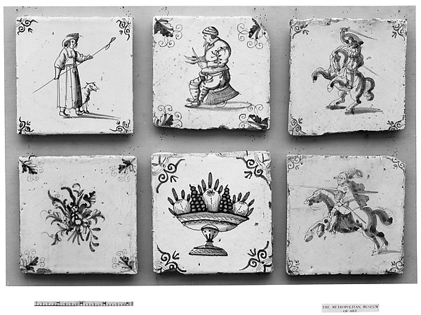 Tile, Tin-glazed earthenware, Dutch