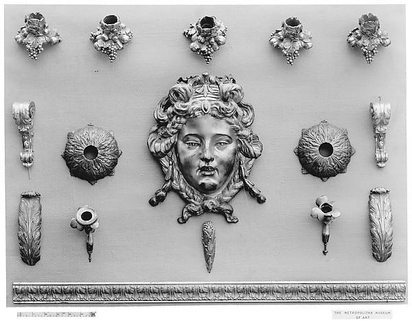 Clock ornament, Gilt bronze, French