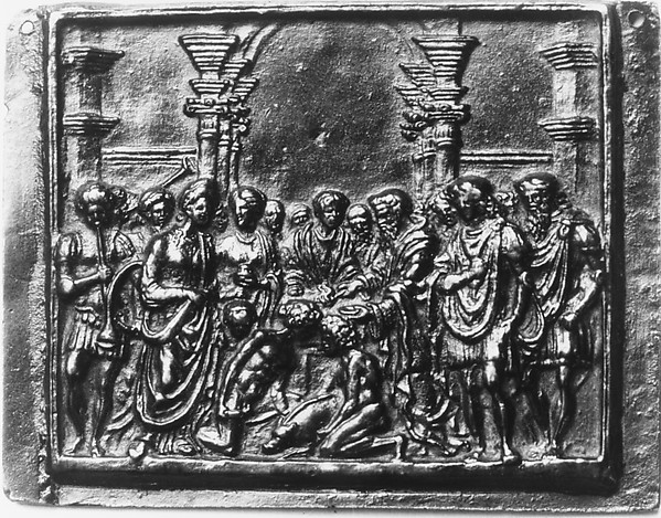 The Sacrifice of a Swine, Andrea Briosco, called Riccio (Italian, Trent 1470–1532 Padua), Bronze, Italian