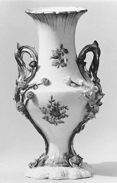 Vase (vase Duplessis) (group of three), Vincennes Manufactory (French, ca. 1740–1756), Soft-paste porcelain, French, Vincennes